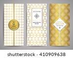 set of brochures with hand... | Shutterstock .eps vector #410909638