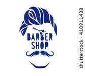 vector hipster barber shop logo ... | Shutterstock .eps vector #410911438