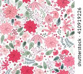 floral spring template with... | Shutterstock .eps vector #410919226