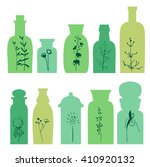set with small vintage bottles. ... | Shutterstock .eps vector #410920132