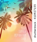 summer beach illustration.... | Shutterstock .eps vector #410927155