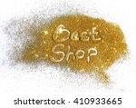 inscription best shop on golden ... | Shutterstock . vector #410933665