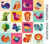 perfect vector set of... | Shutterstock .eps vector #410936812