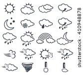 vector set of various dark grey ... | Shutterstock .eps vector #410948878