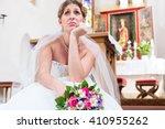 Bride Waiting Alone For Wedding ...