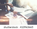 business situation.meeting of... | Shutterstock . vector #410963665