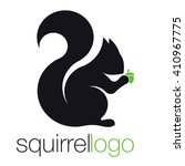 Squirrel Logo. Silhouette...