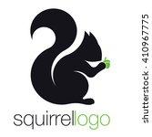 Squirrel Logo. Silhouette...
