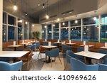 restaurant in modern office...   Shutterstock . vector #410969626