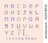 pastel letters of the alphabet  ... | Shutterstock .eps vector #410978932