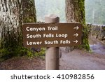 trailhead sign showing multiple ... | Shutterstock . vector #410982856