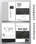 set of business templates for... | Shutterstock .eps vector #410989342