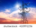 high voltage post or high... | Shutterstock . vector #410991256
