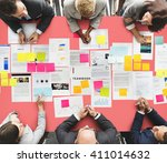 meeting seminar conference... | Shutterstock . vector #411014632