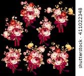 rose flower illustration  | Shutterstock .eps vector #411022348