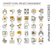 project management   thin line... | Shutterstock .eps vector #411022852