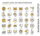 search engine optimization  ...   Shutterstock .eps vector #411022912