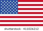 usa flag | Shutterstock .eps vector #411026212