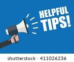 hand holding megaphone  ...   Shutterstock .eps vector #411026236