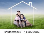 photo of two happy children and ... | Shutterstock . vector #411029002