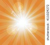 the sun radiation retro orange... | Shutterstock .eps vector #411029272