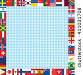dots background with world... | Shutterstock .eps vector #411031708