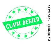 Claim Denied White Wording On...