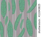 banana leaves pattern palm...   Shutterstock .eps vector #411043825