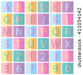 colorful fonts  | Shutterstock .eps vector #411054142