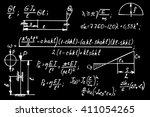 physical equations on school... | Shutterstock .eps vector #411054265
