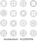 collection of flat game targets ...   Shutterstock .eps vector #411056596