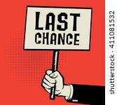 hand holding poster  business...   Shutterstock .eps vector #411081532