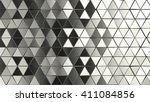 3d rendered abstract metal... | Shutterstock . vector #411084856