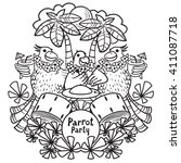 vector doodle illustration of... | Shutterstock .eps vector #411087718