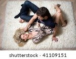 loving young couple on the... | Shutterstock . vector #41109151