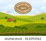 countryside landscape vector... | Shutterstock .eps vector #411093562
