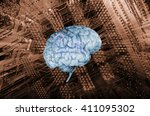 artificial intelligence  human... | Shutterstock . vector #411095302