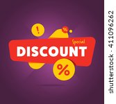 discount tag with special offer ... | Shutterstock .eps vector #411096262
