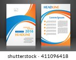 abstract vector modern flyers... | Shutterstock .eps vector #411096418