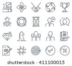 business icon set suitable for... | Shutterstock .eps vector #411100015
