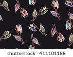 floral pattern to fit the needs ... | Shutterstock .eps vector #411101188