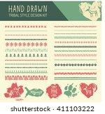Set Of Hand Drawn Tribal...