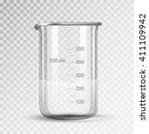 laboratory glassware or beaker | Shutterstock .eps vector #411109942