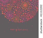 cartoon christmas background | Shutterstock .eps vector #41112202