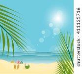summer time background  vector...   Shutterstock .eps vector #411125716