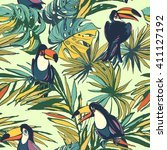 vector illustration tropical... | Shutterstock .eps vector #411127192