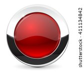 round button with chrome frame. ... | Shutterstock .eps vector #411134842