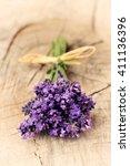lavender   bunch of flowers on ...   Shutterstock . vector #411136396