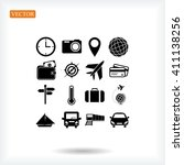 travel icons set | Shutterstock .eps vector #411138256