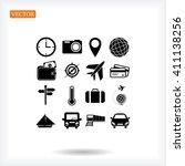 travel icons set | Shutterstock .eps vector #411138256